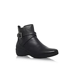 Carvela Comfort - Black 'Rally' low heel ankle boot