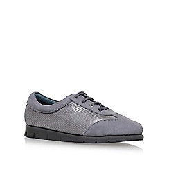 Carvela Comfort - Grey 'Casper' flat lace up sneakers