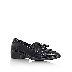 KG Kurt Geiger - Black 'Konker' Flat Slip On Loafers