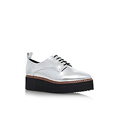 KG Kurt Geiger - Silver 'Kyack' Flat Lace Up Shoes