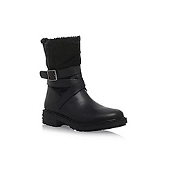 KG Kurt Geiger - Black 'Soldier' flat calf boot