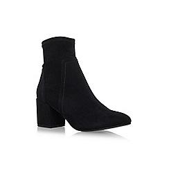Miss KG - Black 'Jemima' mid heel zip up ankle boot