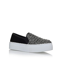 KG Kurt Geiger - Black 'Latina' flat slip on sneakers