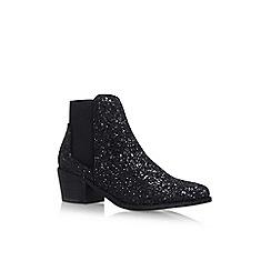 Miss KG - Black 'Glitter Spider' low heel ankle boot
