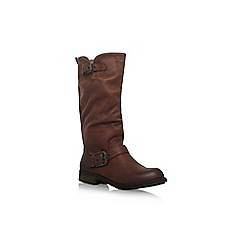 Miss KG - Brown 'Winter' flat knee high boots