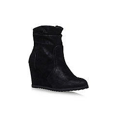 Miss KG - Black 'Sion' high heel wedge ankle boots