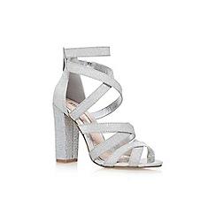 Miss KG - Silver 'Flick' high heel sandals