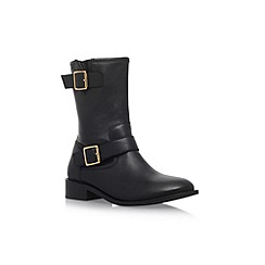 Carvela - Black 'Striker' flat biker boots