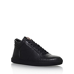 KG Kurt Geiger - Black 'Hoddesdon' flat lace up sneakers
