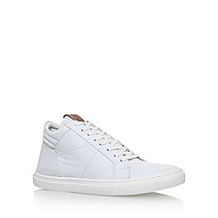KG Kurt Geiger - White 'Hoddesdon' flat lace up sneakers