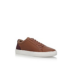 KG Kurt Geiger - Brown 'Hornsea' flat lace up sneaker