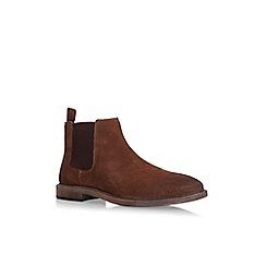 KG Kurt Geiger - Brown 'Hadleigh' flat chelsea boots