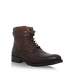 KG Kurt Geiger - Brown 'Hatfield' flat lace up boots