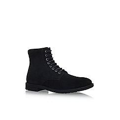 KG Kurt Geiger - Black 'Heathfield' flat lace up boots