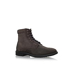 KG Kurt Geiger - Brown 'Heathfield' flat lace up boots