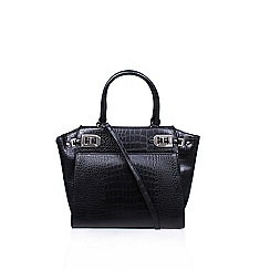 Nine West - Black 'Gleam Team' satchel handbag with shoulder straps