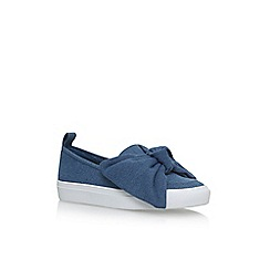 KG Kurt Geiger - Blue 'Lust' flat slip on sneakers