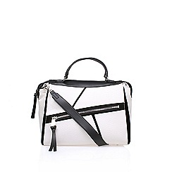 Nine West - White 'Underwraps' satchel handbag with shoulder straps