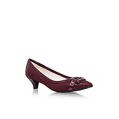 Anne Klein - Red 'Melanie' low heel court shoes