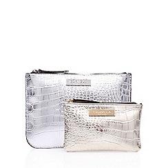 Carvela - Grey 'Pia Giftset' clutch bag set
