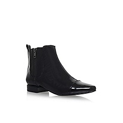 Nine West - Black 'Pleaser3' flat ankle boot