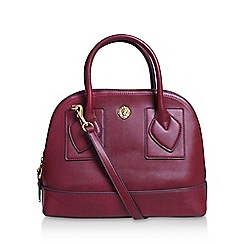 Anne Klein - Red 'Bille' dome satchel handbag with shoulder straps
