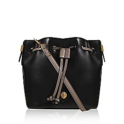 Anne Klein - Black 'Nina' drawstring handbag with shoulder straps