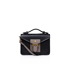 Anne Klein - Black 'Serena' top handle handbag with shoulder straps