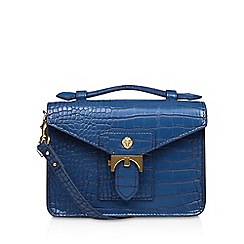 Anne Klein - Blue 'Serena' top handle handbag with shoulder straps