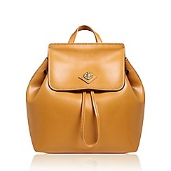Anne Klein - Yellow 'Tavi' backpack handbag with shoulder straps