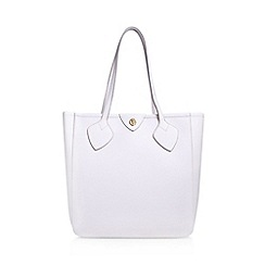 Anne Klein - White 'Georgia' tote handbag with shoulder straps