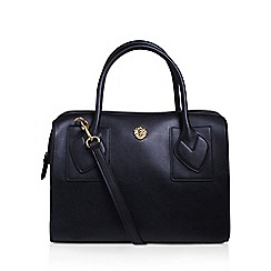 Anne Klein - Black 'Bey' satchel handbag with shoulder straps