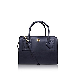 Anne Klein - Blue 'Bey' satchel handbag with shoulder straps