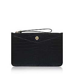 Anne Klein - Black 'Frances Wristelet LG' clutch bag with wrist strap