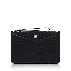 Anne Klein - Black 'Frances Wristelet LG' clutch bag with wrist strap