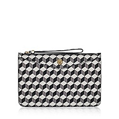 Anne Klein - Grey 'Frances Wristelet LG' clutch bag with wrist strap