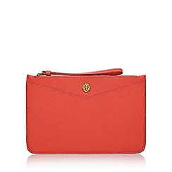 Anne Klein - Red 'Frances Wristelet LG' clutch bag with wrist strap
