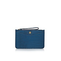 Anne Klein - Blue 'Frances Wristelet LG' clutch bag with wrist strap