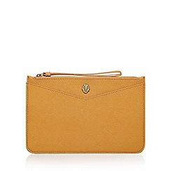 Anne Klein - Yellow 'Frances Wristelet LG' clutch bag with wrist strap