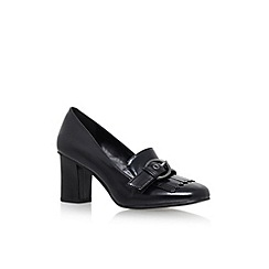 Nine West - Black 'Umbriah3' mid heel loafers