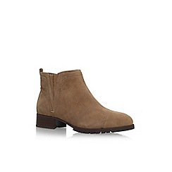 Nine West - Brown 'Layitout' flat ankle boots