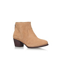 Nine West - Brown 'Bolt' mid heel ankle boots