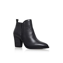Vince Camuto - Black 'Micaley' mid heel zip up ankle boot