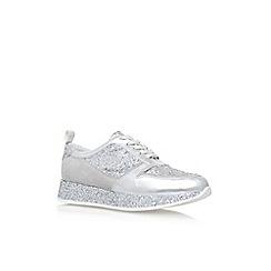 KG Kurt Geiger - Silver 'Lanza' flat lace up sneaker