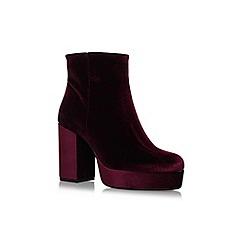 Carvela - Red 'Sweden' high heel ankle boots
