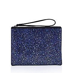 Carvela - Blue 'Glassy Pouch' clutch bag