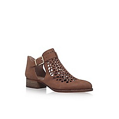 Vince Camuto - Brown 'Cadey' low heel ankle boots