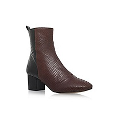 KG Kurt Geiger - Brown 'Snooze' mid heel ankle boot