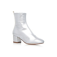 KG Kurt Geiger - Silver 'Snooze' mid heel ankle boots