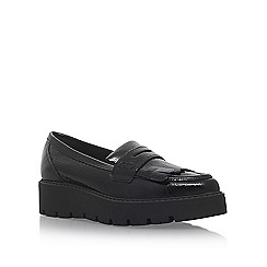 KG Kurt Geiger - Black 'Kompton' flat slip on loafers